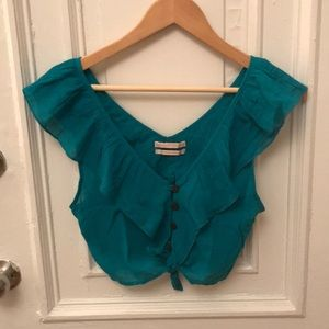 Teal Urban Outfitters top